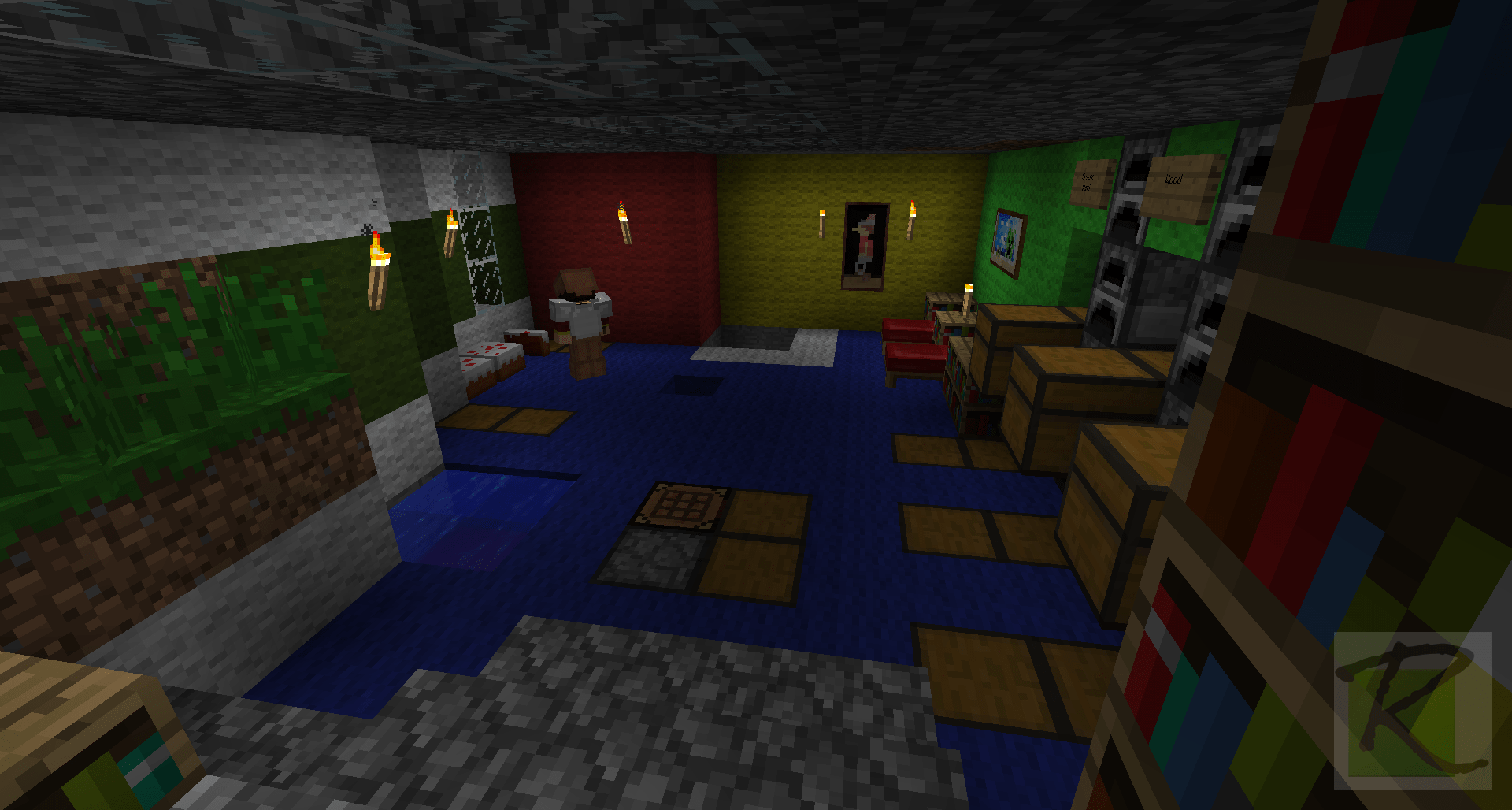 Minecraft interior design cool minecraft interior design for Minecraft house interior living room