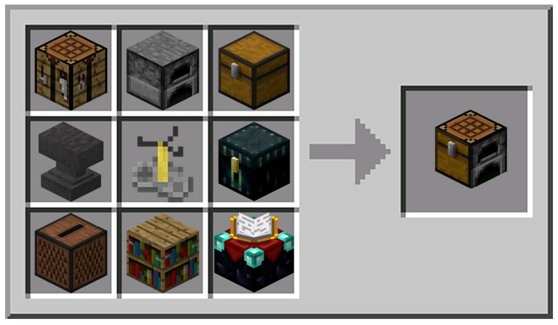 Custom Crafting Table Minecraft Tools