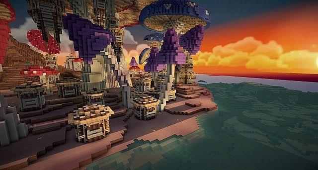 Pollux Mushroom World Build Minecraft Building Inc