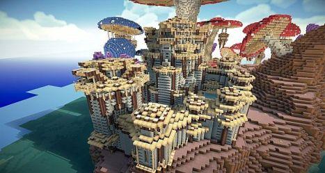 mushroom build minecraft kingdom pollux building island mushrooms minecraftbuildinginc crafts