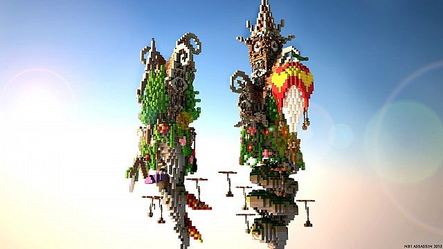 Corkscrew Island Floating – Minecraft Building Inc