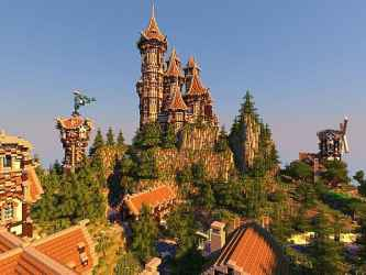 minecraft medieval castle village building town buildings inc palace bebopvox contest 1st place bmc team designs exactly released today comments
