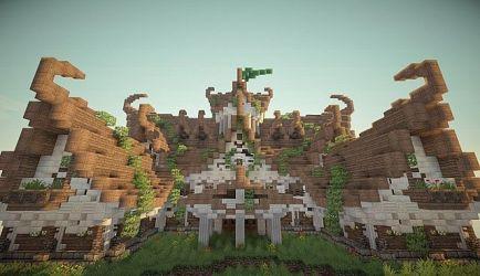 elven build minecraft building pack schematic townhall