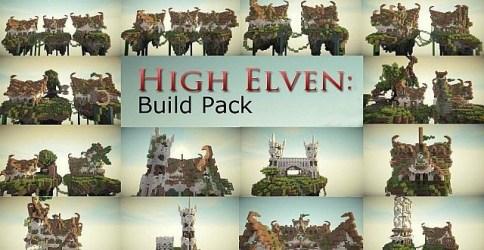 elven build pack minecraft building town builds buildings elf temple minecraftbuildinginc map inc warcraft night cities