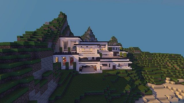 Minecraft Modern Cliff House Tutorial House Interior