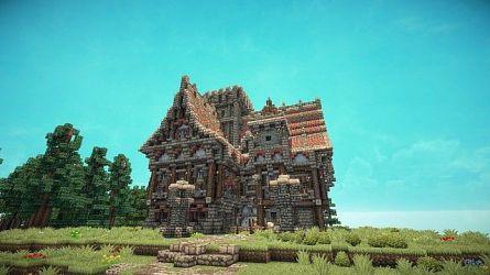 medieval minecraft mansion building cottage houses buildings mansions minecraftbuildinginc architecture blueprints homes shader