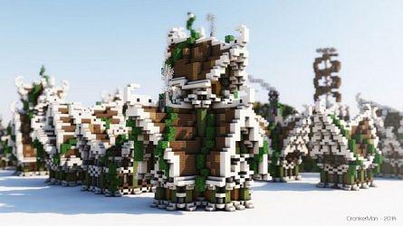 Elven Style Houses Building Bundle Minecraft Building Inc