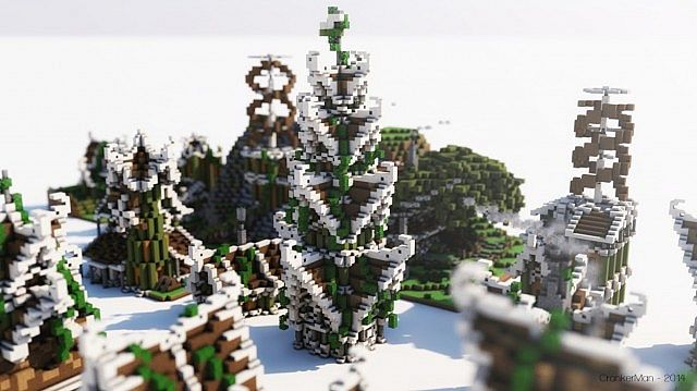 Elven Style Houses Building Bundle Minecraft