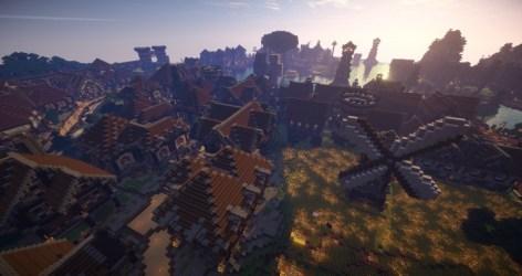 Large Medieval Village or City Minecraft Building Inc
