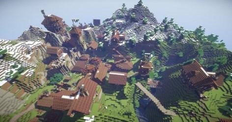 village fantasy realistic kingdoms minecraft arch building mountain castle town gebra fishing