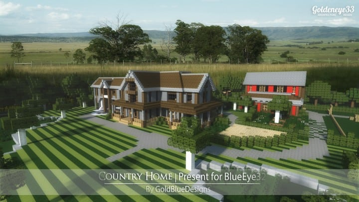 Country Home Ranch House And Farm – Minecraft Building Inc