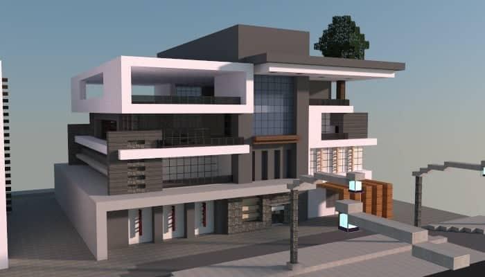 Box Modern House – Minecraft Building Inc