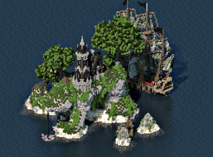 Sustinere Island And Ship Minecraft Building Inc