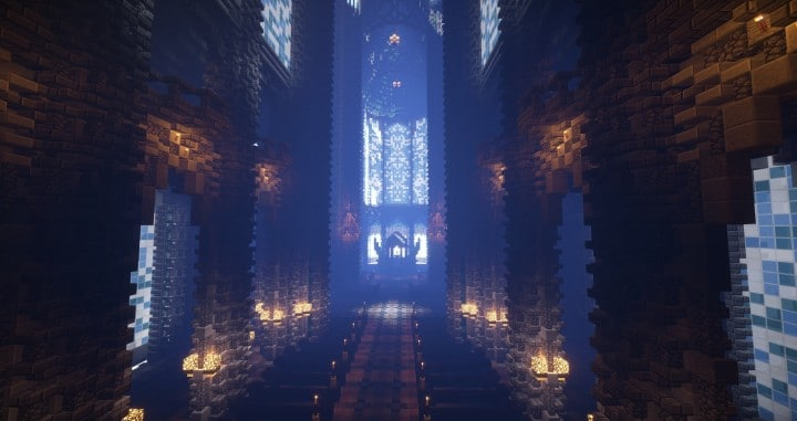 Prismarine Cathedral Minecraft Building Inc