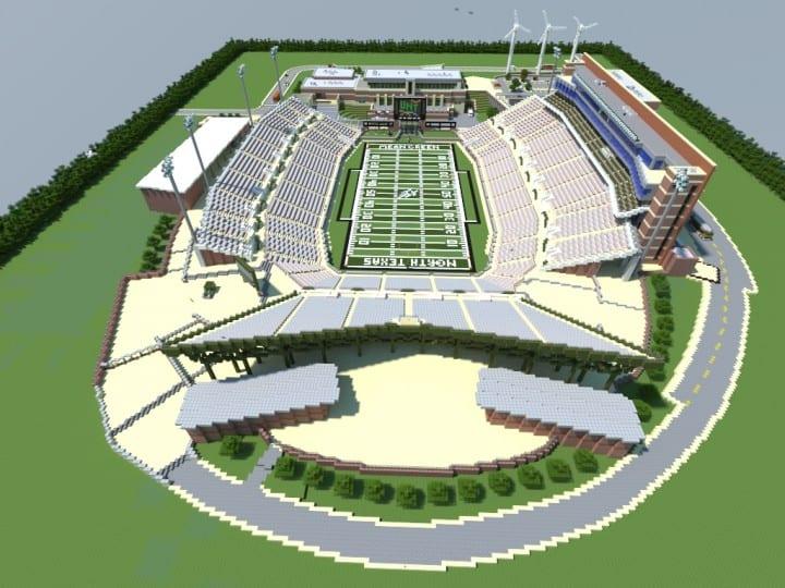 Apogee Stadium  With Touchdown Rollercoaster  Minecraft