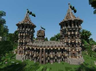minecraft fort medieval build own building castle interior exterior eigenes mittelalterliches baue dein survival ark highlights