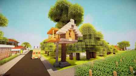 treehouse build simple starter tutorial minecraft tree mushroom mansion keralis building buildings minecraftbuildinginc