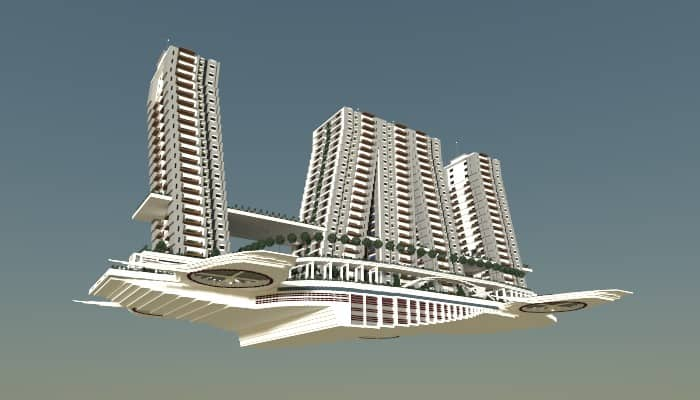 Flying Apartments Minecraft Building Inc