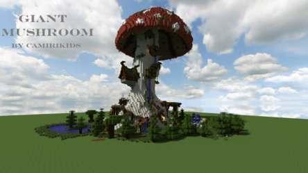 Giant Fantasy Mushroom Minecraft Building Inc