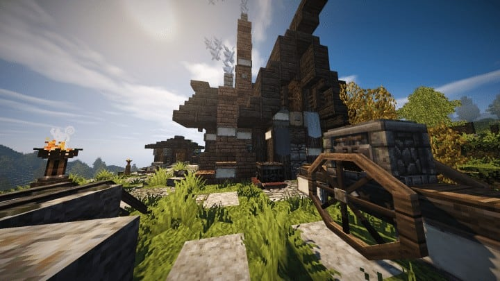 Riverbend Medieval House  Minecraft Building Inc