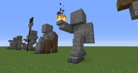 minecraft easy statues build statue buildings structures stuff medieval creative builds cool things castle building worlds imgur creations minecraftbuildinginc houses