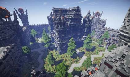 Epic Evil Themed Medieval Faction Spawn Minecraft Building Inc