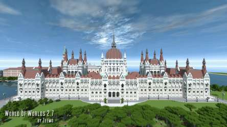 budapest hungary worlds parliament hungarian building minecraft map project