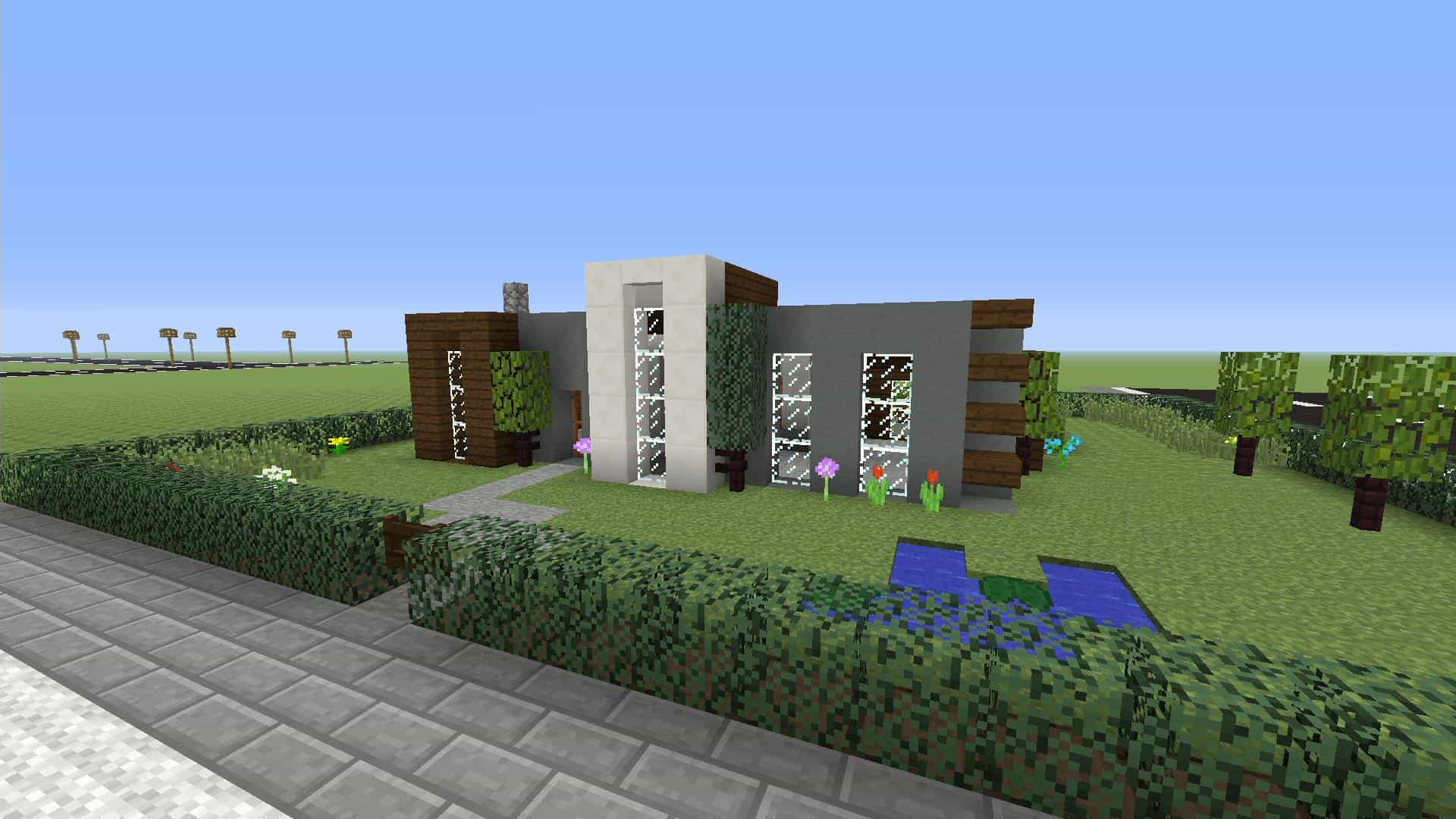Minecraft: How to make a Simple Modern House