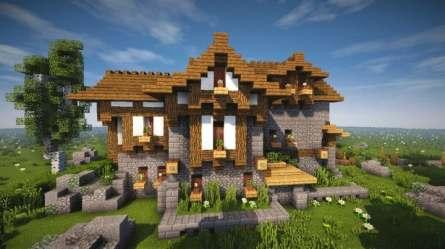 Cozy little Medieval House Timelapse + Download Minecraft Building Inc
