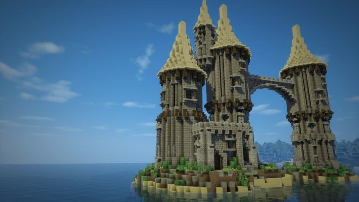 How To Build A Fantasy Island Castle Minecraft Building Inc