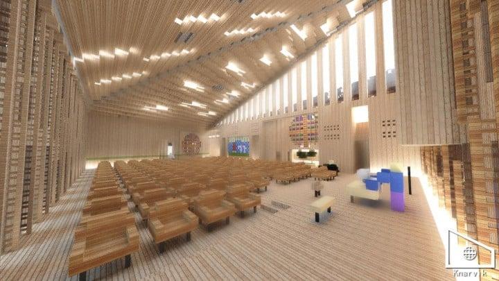Knarvik Church Modern Minecraft Building Inc