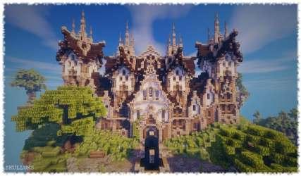 minecraft fantasy castle build tantal cinematic building planetminecraft 3d screenshots library schemagic