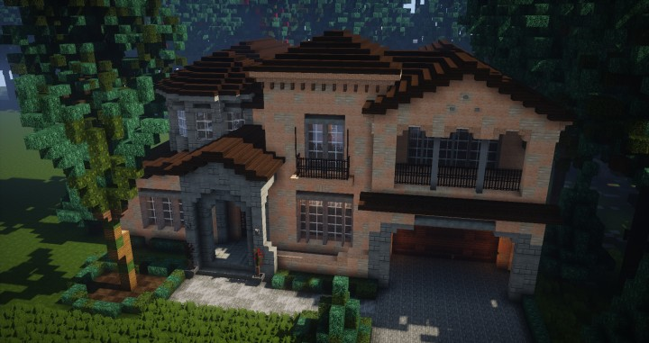 Mediterranean Style Traditional House Minecraft Building Inc