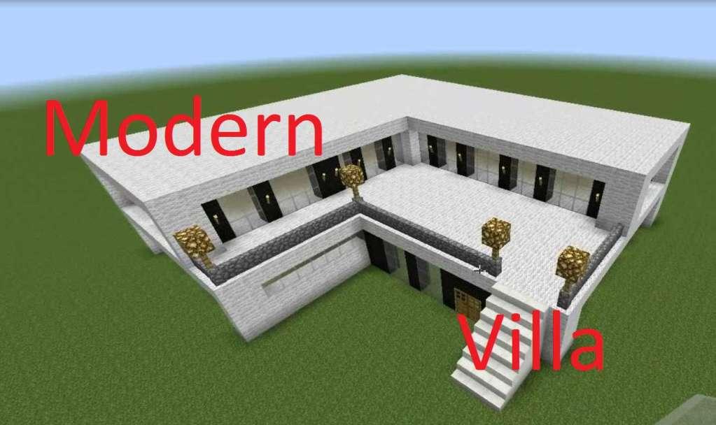 descargar Casa moderna lana minecraft