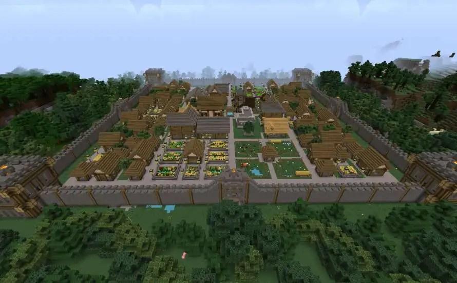 Ciudad medieval Minecraft