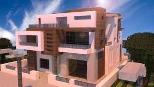 casa futurista minecraft