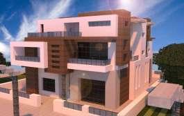 Mansion Omega Minecraft - Casa futurista y moderna