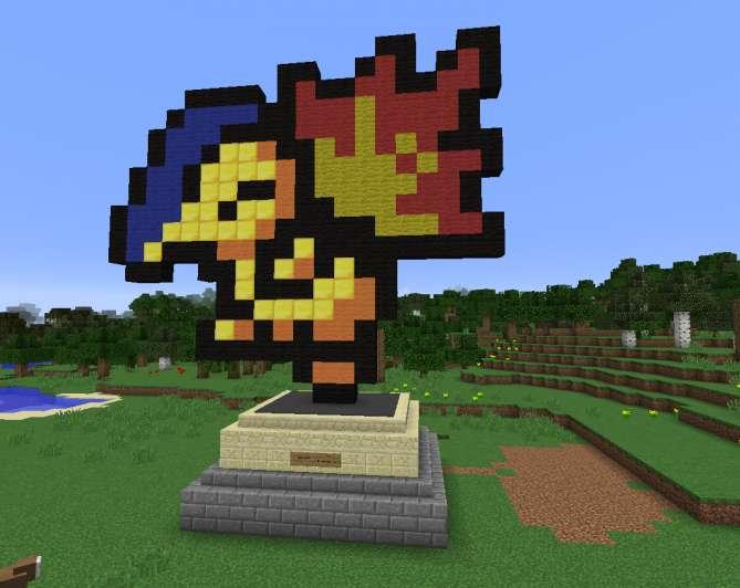 Pokemon Cyndaquill Minecraft Pixel Art