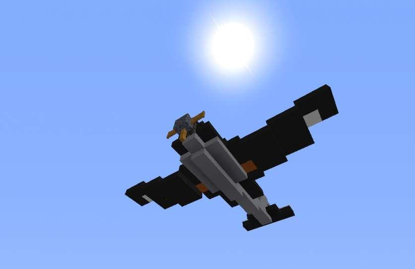 Avión de combate Minecraft