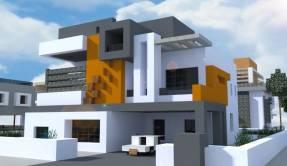 Casa Moderna Prismarine Minecraft