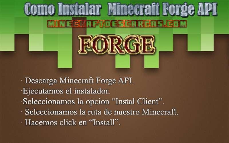 Instalar Minecraft Forge