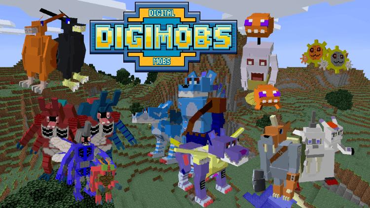 Digimobs Mod para Minecraft 1.12.2