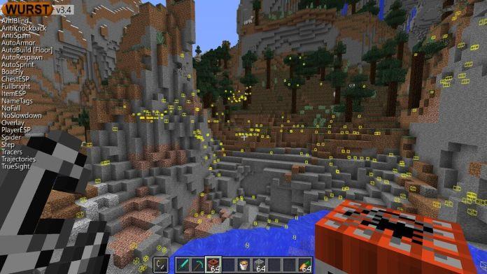 Wurst Hacked Client para Minecraft 1 14 4/1 13 2 | MinecraftDos