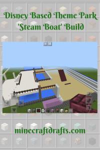 Disney based theme park steam boat build