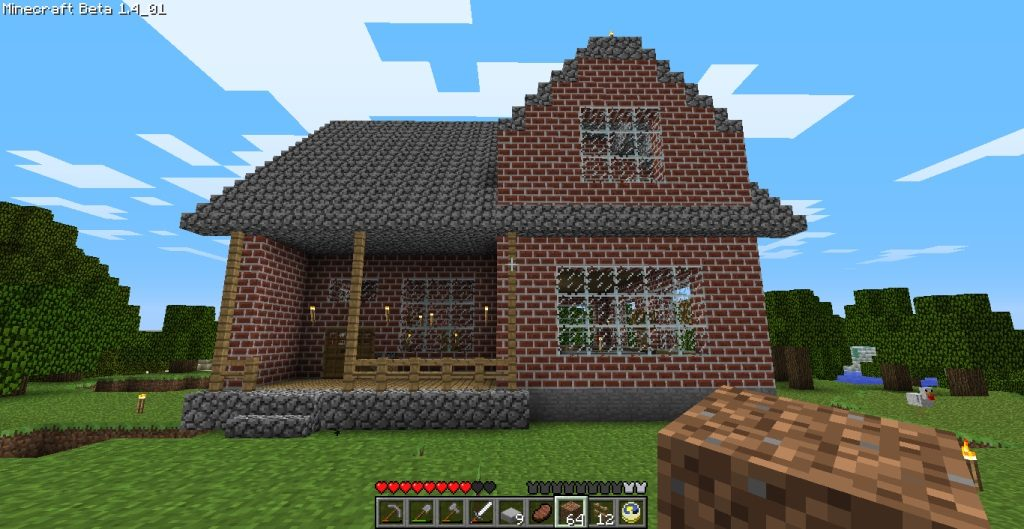 Cozy 2 Story Brick House – Minecraft House Design