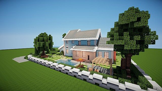 Suburban House Project – Minecraft House Design