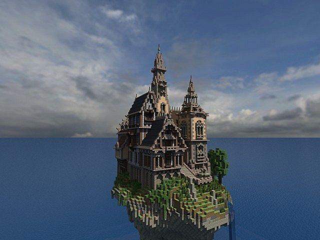 Hustin Manor Minecraft House Design