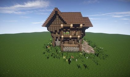 minecraft medieval designs medium medival plans build cabin screenshot elegant story schemagic