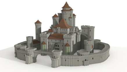 Blueprint Minecraft Medieval Castle Castelo Medieval