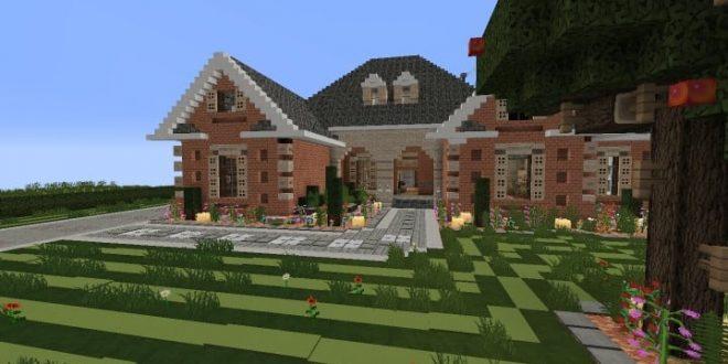 Large Suburban House – Minecraft House Design
